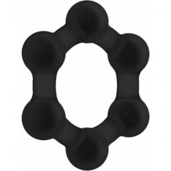 NO 82 WEIGHTED COCK RING NEGRO