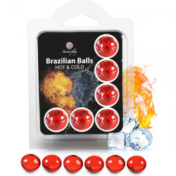 SECRET PLAY SET 6 BRAZILIAN BALLS EFECTO HOT COLD